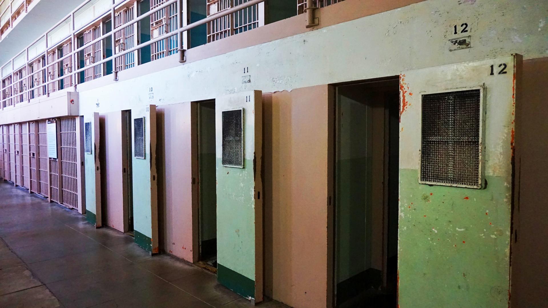 Cele w więzieniu Alcatraz, San Francisco, USA | Sway the way