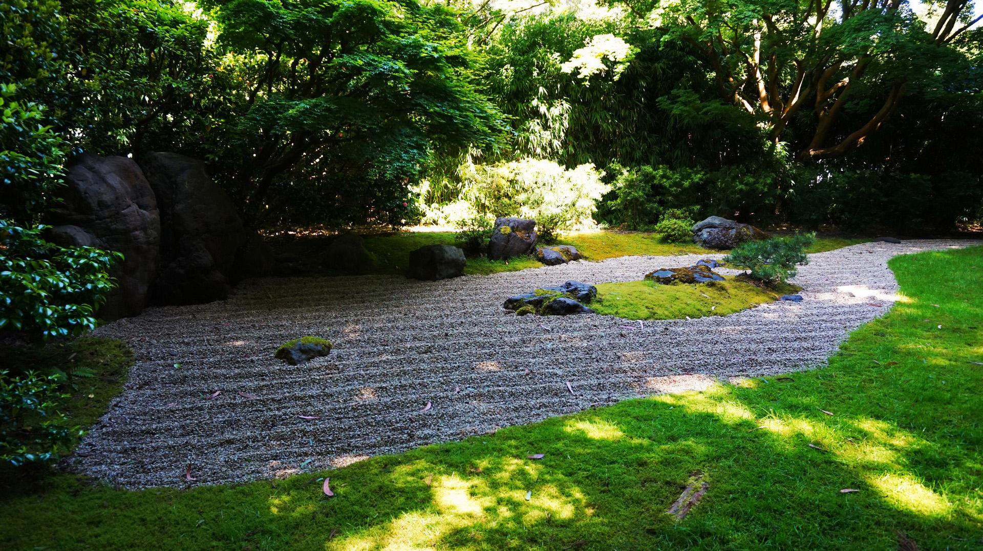 Cichy ogród w Japońskim Ogrodzie Golden Gate Park, San Francisco, USA | Sway the way