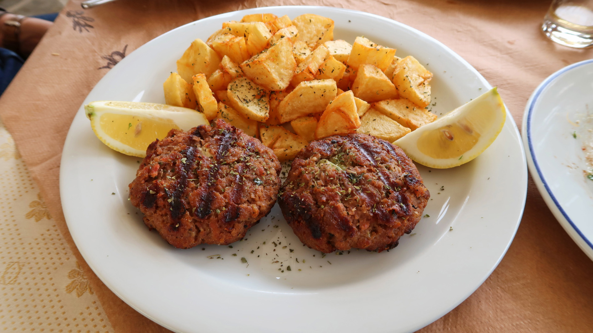 Sway the way andros chora restaurant pork patties2