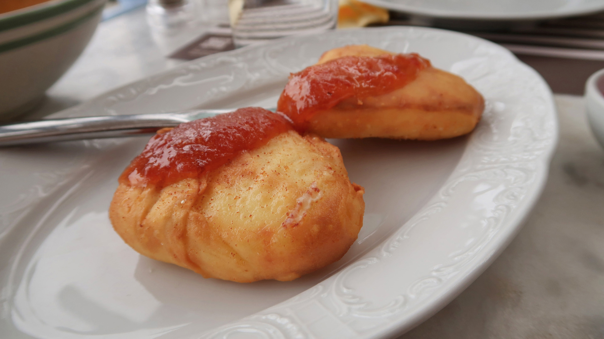 sway the way greece andros fried cheese with apricot jam